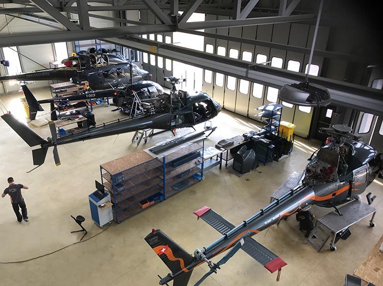 Atelier de notre filiale Rotor Team