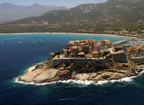 Helicopter transfers in Calvi