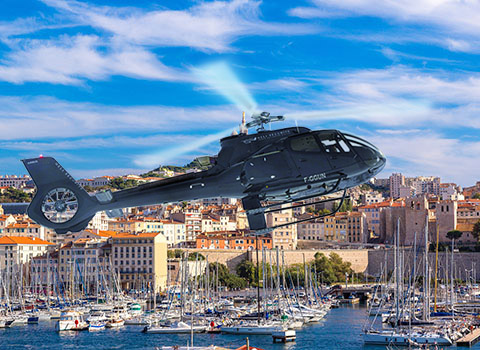 Helicopter transfer from Marseille Airport to Saint-Tropez