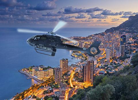 Vol privé en hélicoptère à Monaco