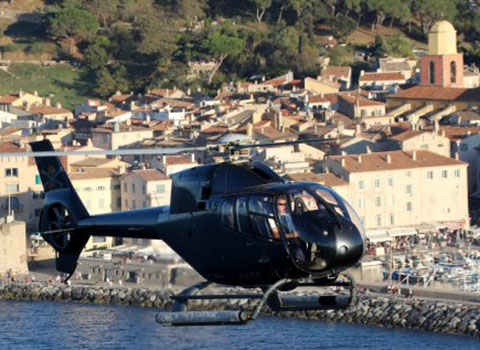 Helicopter transfers from Saint-Tropez