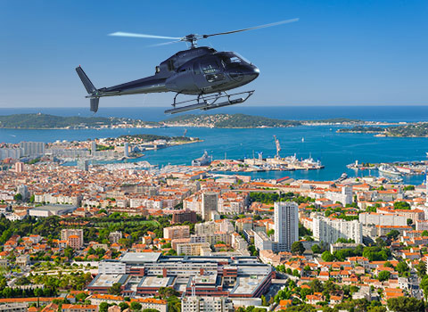 Helicopter transfers from Toulon Airport