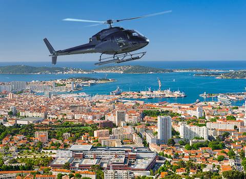 Transfert en hélicoptère à Toulon