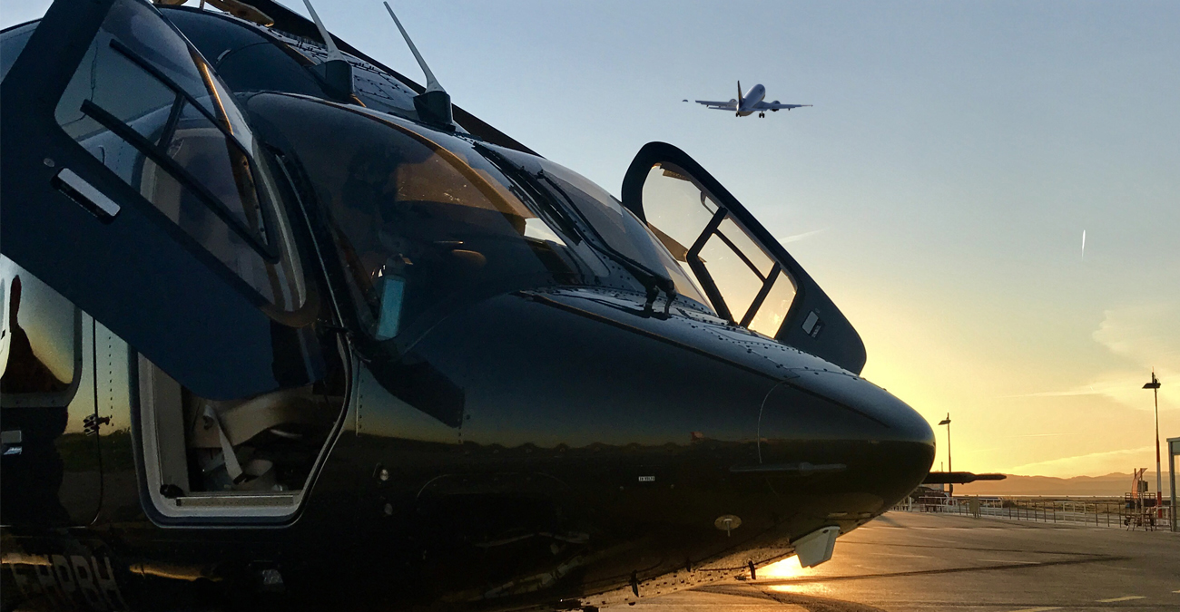 Regular helicopter transfer from Monaco to Nice