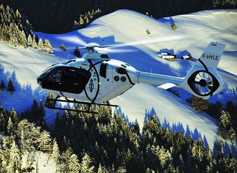 Hélicoptère Megève