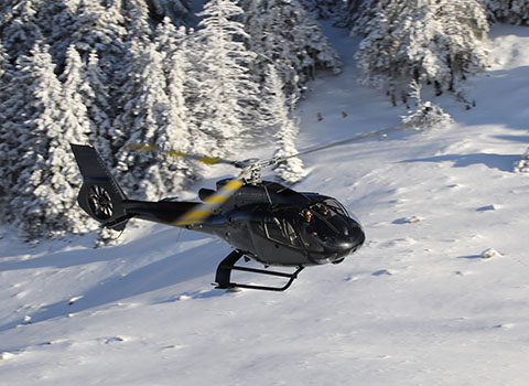 Hélicoptère Saint-Moritz