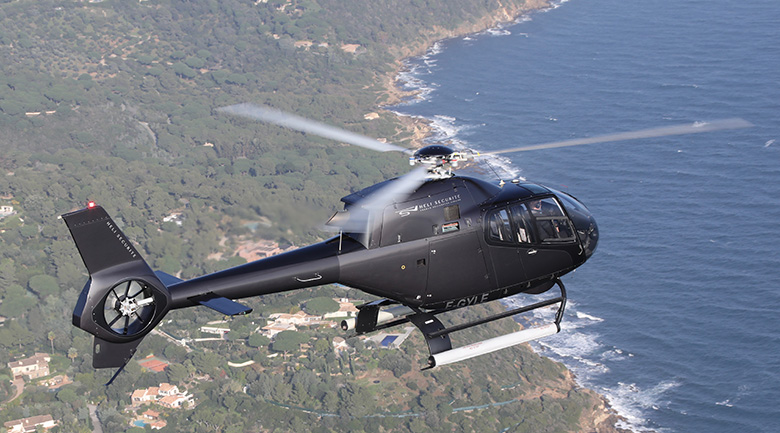Airbus EC-120 flying over Saint-Tropez
