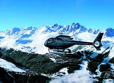 Helicopter transfers from Courchevel