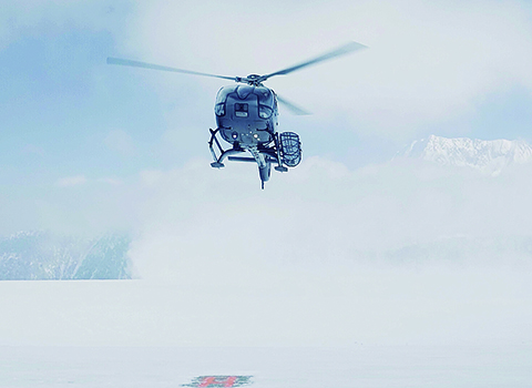 Val Thorens Helicopter