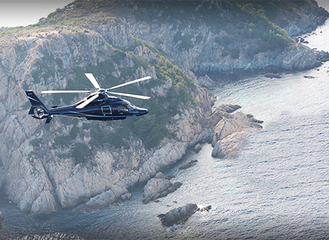 Helicopter transfers from Cannes