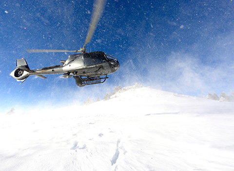 Helicopter transfers from Megeve