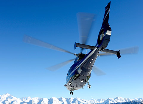 Helicopter transfers from Val d'Isere