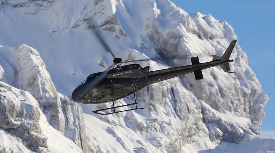 Vol panoramique en hélicoptère au dessus du Mont-Blanc