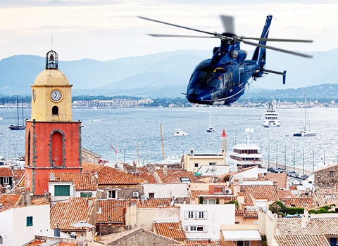 Book a private helicopter transfer to more than 100 destinations