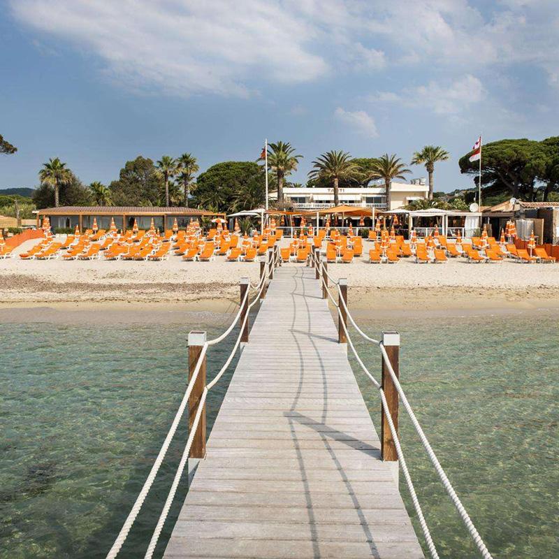 Hôtel et restaurant Tahiti Beach à Saint-Tropez