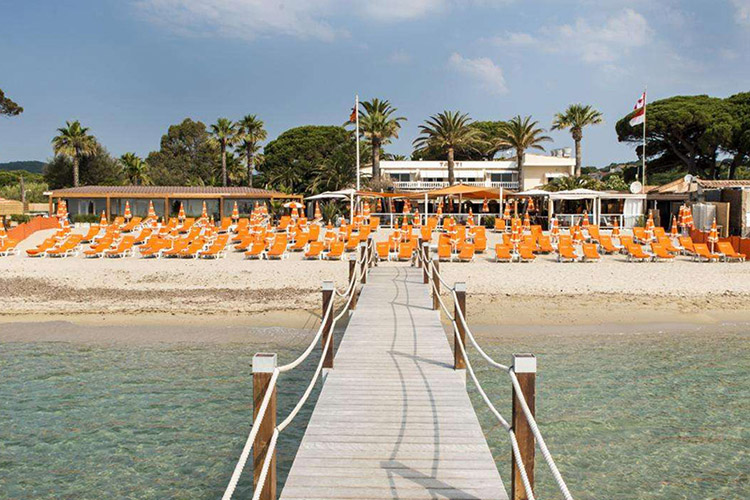Restaurant Tahiti Beach à Pampelonne, Ramatuelle, Golfe de St Tropez